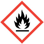 GHS burning flame pictogram