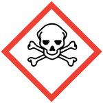 skull and crossbones poison/toxic GHS pictogram
